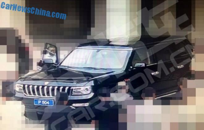 Spy Shots: Hongqi P504 SUV testing in China