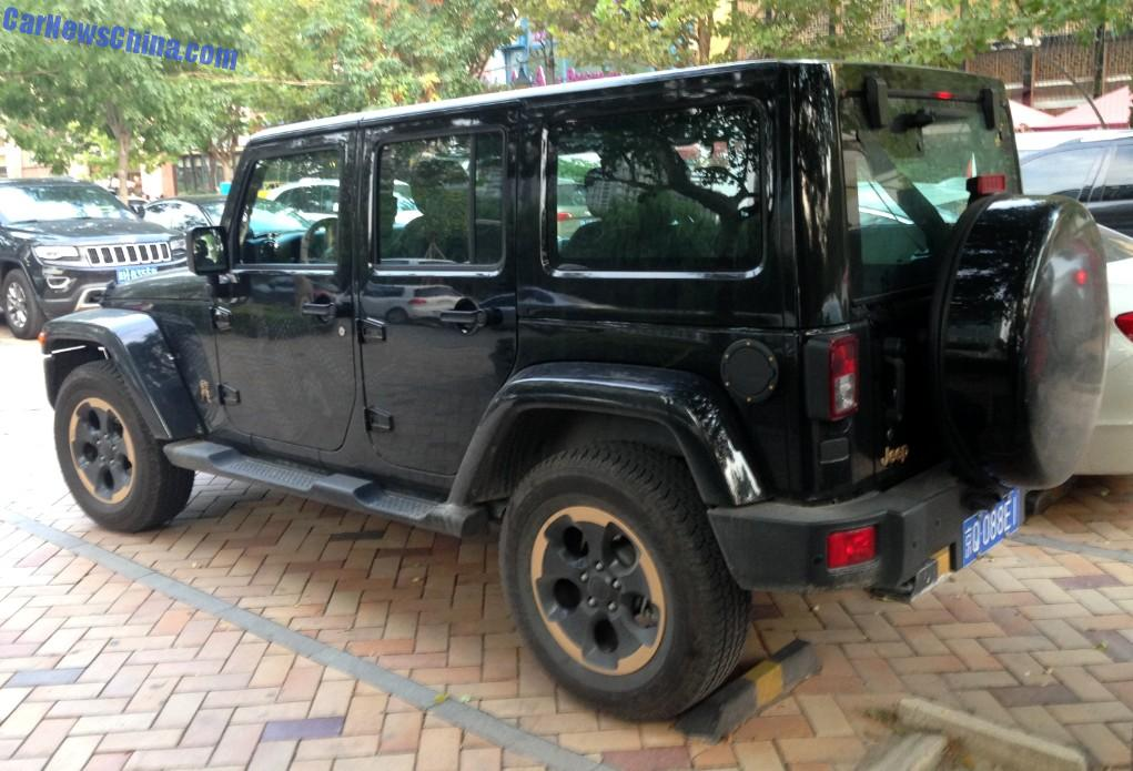 spotted in china jeep wrangler dragon limited edition. Black Bedroom Furniture Sets. Home Design Ideas
