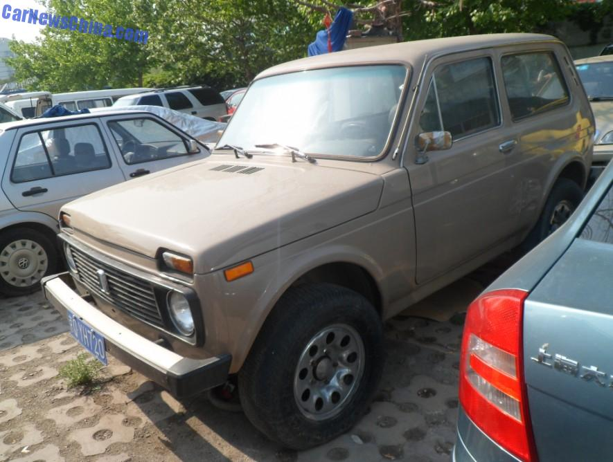 spotted in china first generation lada niva 1600. Black Bedroom Furniture Sets. Home Design Ideas