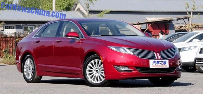 Lincoln MKZ launched on the Chinese car market