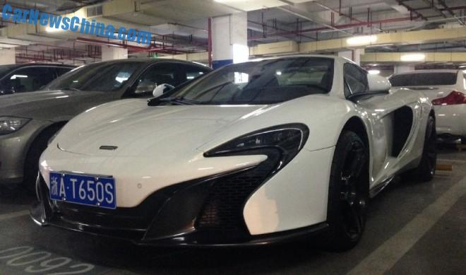 McLaren 650S Spider has a license in China