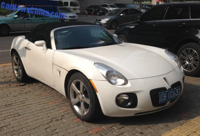 Spotted in China: Pontiac Solstice GXP