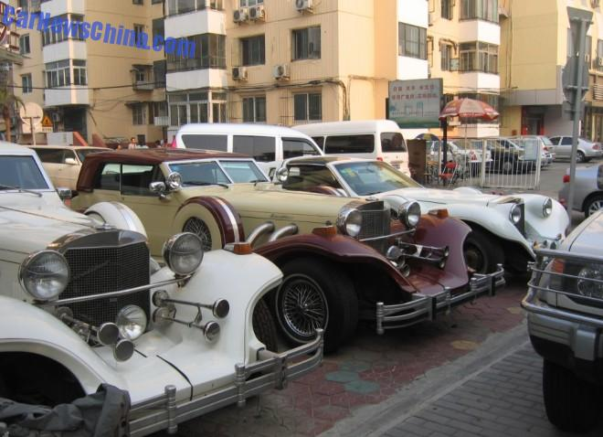 Spotted in China: Excalibur Series V Gran Limousine, Excalibur Series V Roadster, & Spartan Series II Phantom Coupe