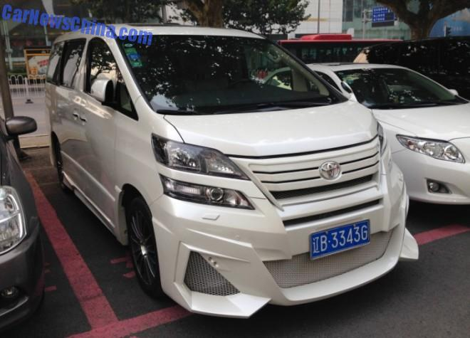 Toyota Alphard has a body kit in China