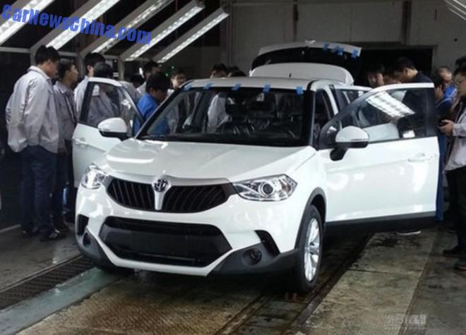 Spy Shots: Brilliance V3 in the Factory in China