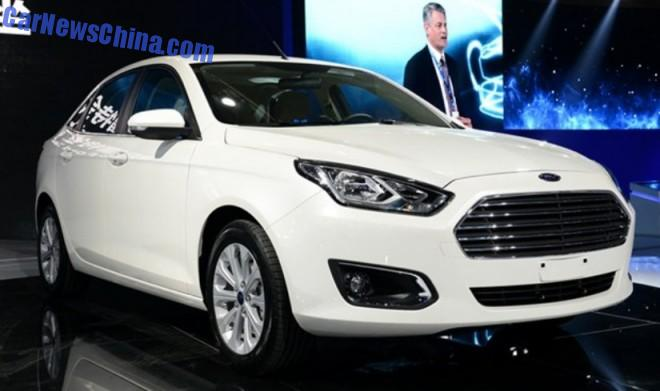 2014 Guangzhou Auto Show: new Ford Escort unveiled in China