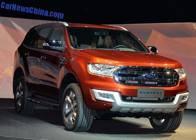 Ford Everest SUV debuts in China