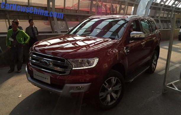 Ford Everest arrives at the Guangzhou Auto Show in China width=