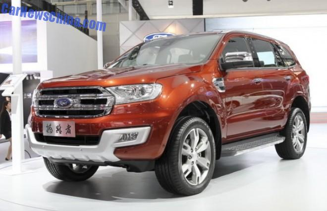 2014 Guangzhou Auto Show: Ford Everest SUV debuts in China