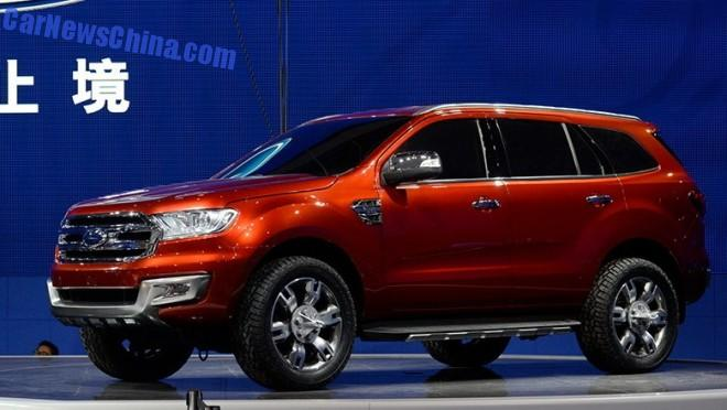 Ford Everest SUV will debut in China on November 13