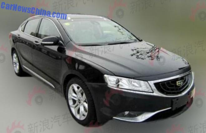 Spy Shots: Geely Emgrand GC9 is Naked in China