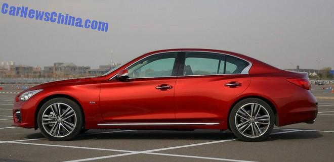 This is the new Infiniti Q50L for the China car market