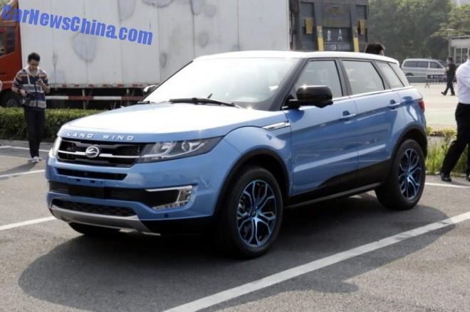 China clones the Range Rover Evoque; the Landwind X7 arrives at the Guangzhou Auto Show