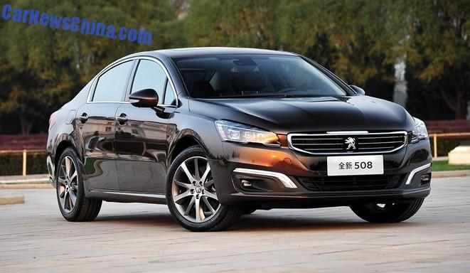 new peugeot 508 will be launched in china in january 2015. Black Bedroom Furniture Sets. Home Design Ideas