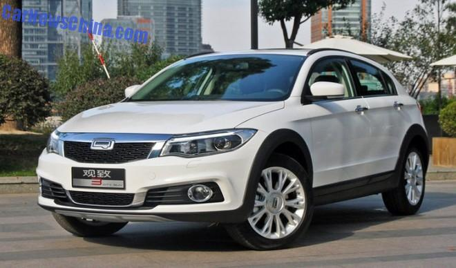 This is the new Qoros 3 City SUV for China
