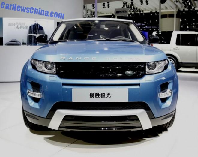 2014 Guangzhou Auto Show: China-made Range Rover Evoque unveiled in China
