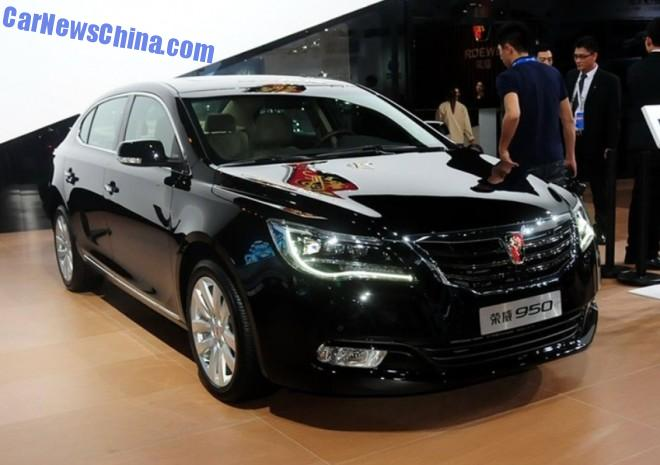 2014 Guangzhou Auto Show: facelifted Roewe 950 debuts in China