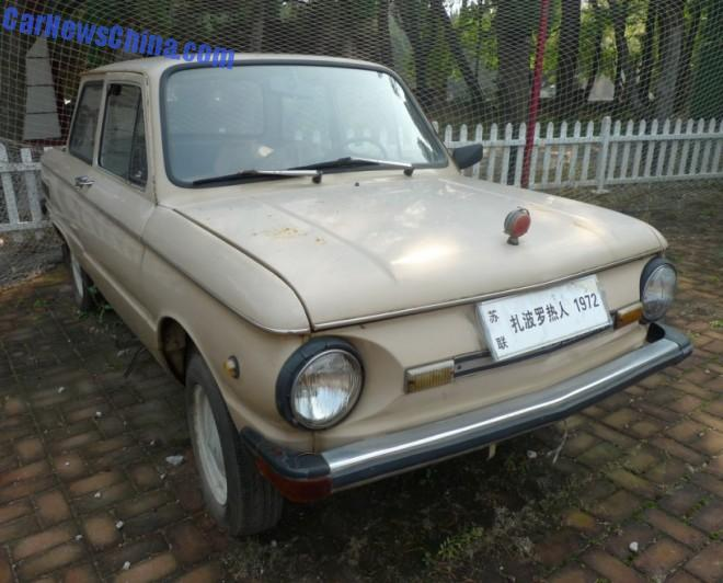 The ZAZ 968M at the Dalian Classic Car Museum