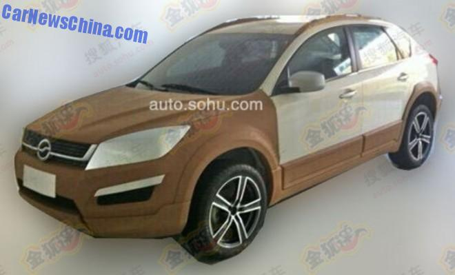 Spy Shots: Zhongxing working on new Crossover