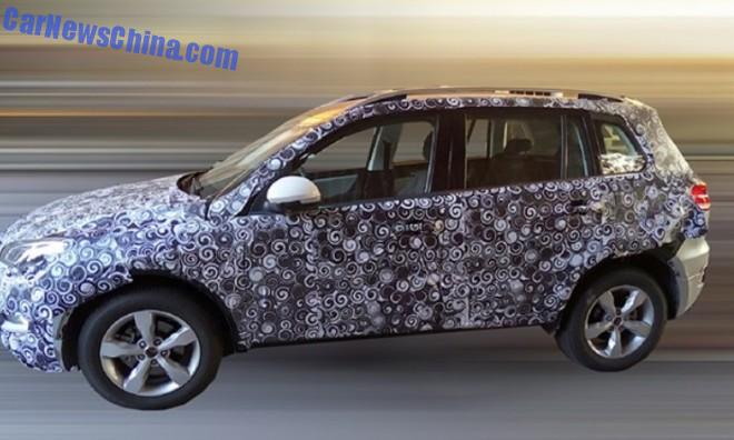 Spy Shots: Zotye T500 SUV testing in China