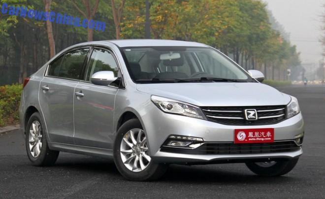This is the Zotye Z500 sedan for the China auto market