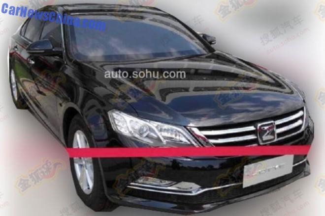 Spy Shots: Zotye Z600 sedan is Naked in China