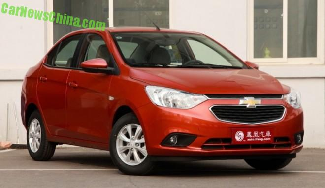 Chevrolet Sail 3 launched on the Chinese auto market