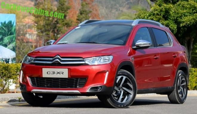 This is the Citroen C3-XR SUV for China