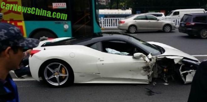 Ferrari 458 Italia crashes in China