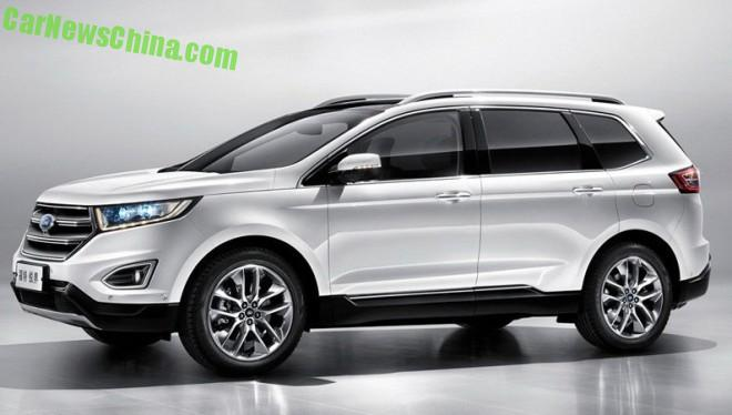 Officially Official: this is the China-made Ford Edge SUV