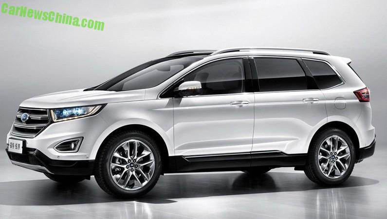 Officially Official This Is The China Made Ford Edge Suv