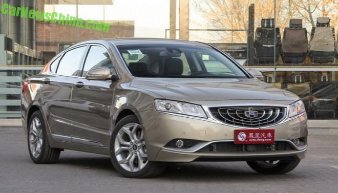 This is the new Geely Brilliant GC9 for China