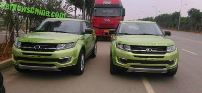 Landwind X7 is a Green Clone of the Range Rover Evoque in China