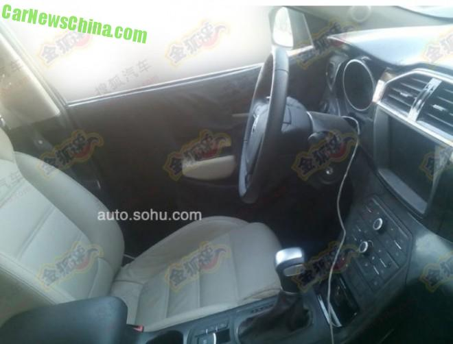 Spy Shots: interior of the MG CS SUV unveiled in China
