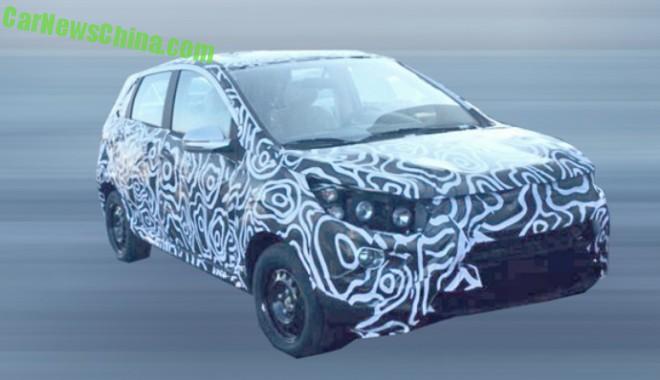 Spy Shots: Beijing Auto Senova X25 SUV testing in China
