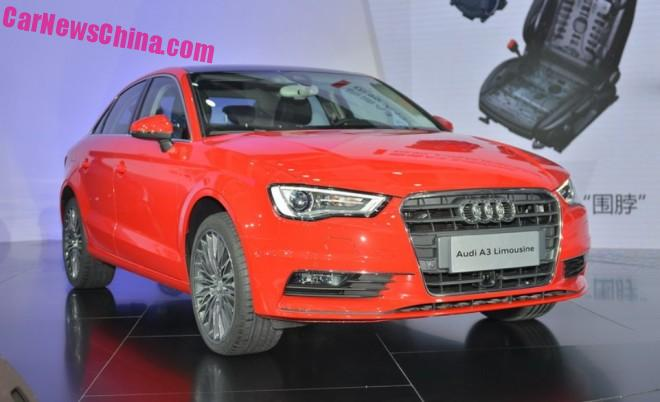 China-made Audi A3 Limousine launched on the Chinese car market