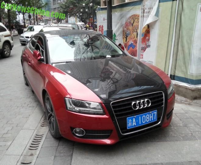 Audi A5 Sportback is Red & Black in China