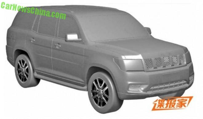 Patent Applied: the Beijing Auto B90 SUV is Ready for Production