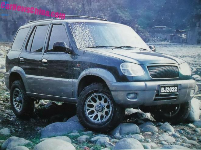 China Car History: the Beijing-Jeep BJ2022 Heroic is a Jeep Cherokee XJ from China