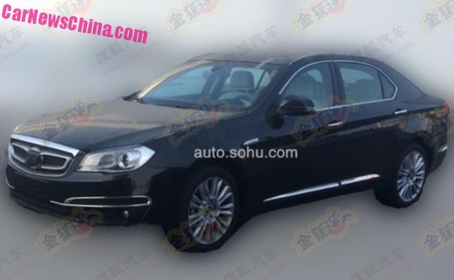 Spy Shots: Beijing Auto Senova D80 testing in China
