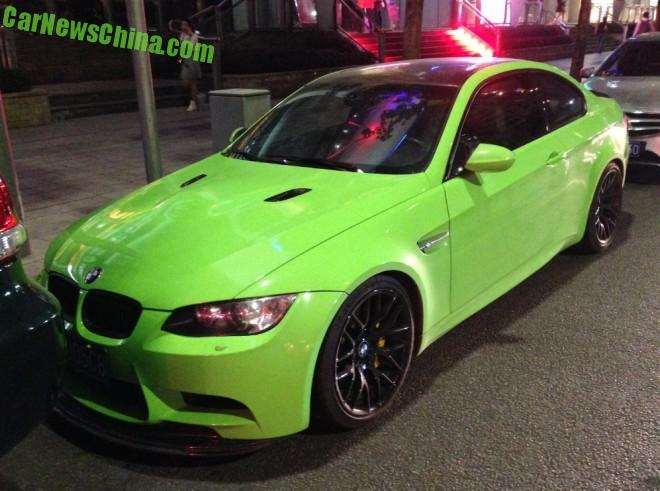 BMW M3 Coupe is Lime Green in China