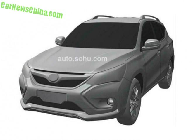 Patent Applied: BYD S3 shows its Face in China