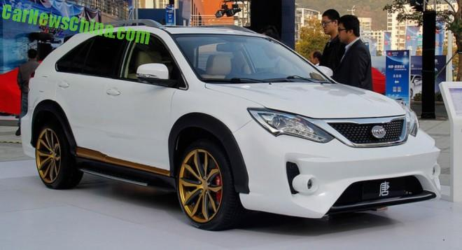 This is the BYD Tang Ultimate Edition super SUV for China