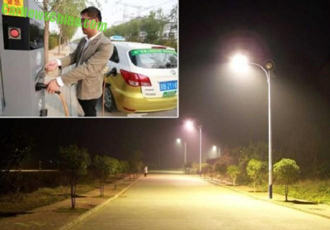Beijing turns Street Lamps into charging stations for Elecric Cars
