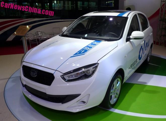 This is the new FAW Oley EV from China