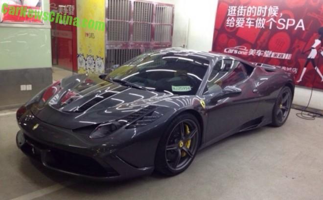 Ferrari 458 Speciale is Dark Gray in China