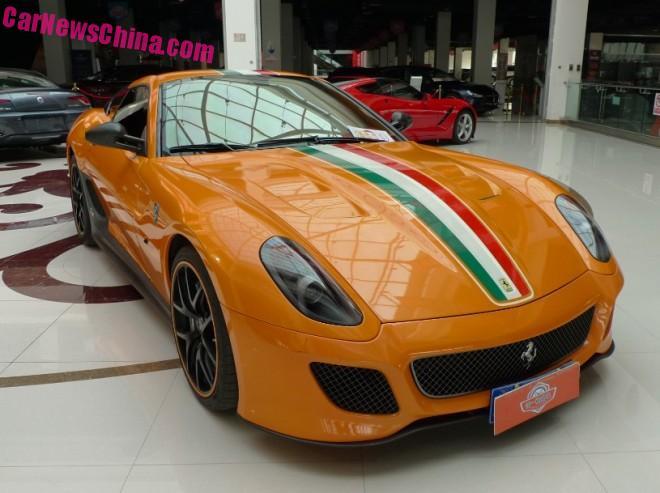 Ferrari 599 GTO is Orange in China