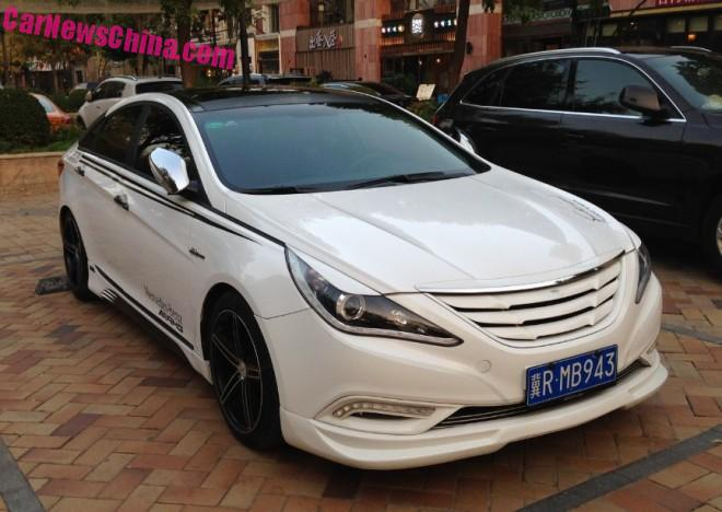 Hyundai Sonata sedan has a Body Kit in China