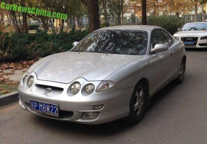 Spotted in China: first generation Hyundai Tiburion