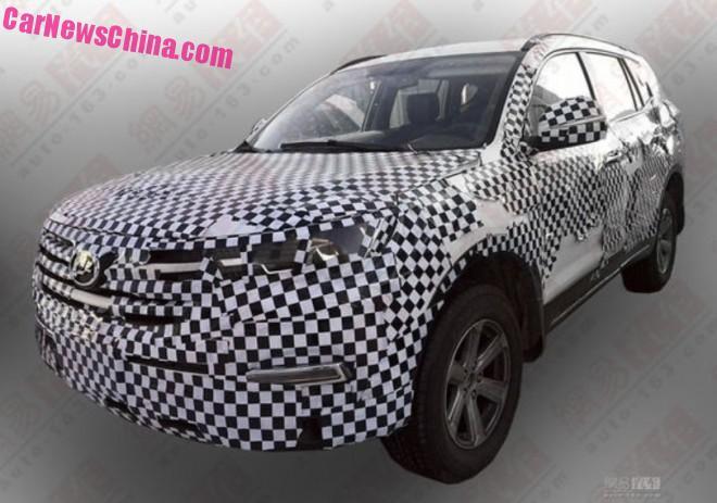 Spy Shots: Lifan X80 SUV testing in China